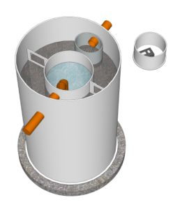 A biocell sewage treatment plant